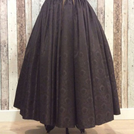 Falda de mudar marrón